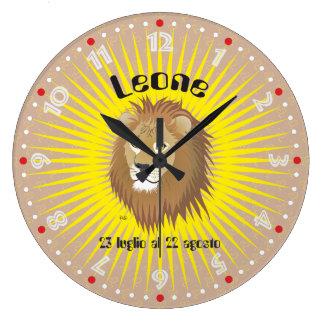 Leone 23 peeping Lio Al 22 agosto Orologio Large Clock