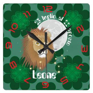 Leone 23 peeping Lio Al 22 agosto Orologio Square Wall Clock
