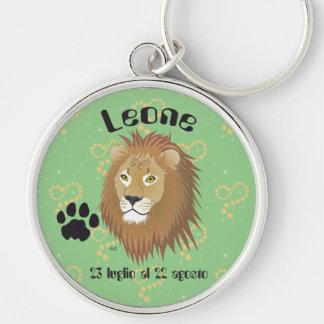 Leone 23 peeping Lio Al 22 agosto Portachiavi Silver-Colored Round Keychain