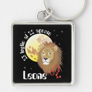 Leone 23 peeping Lio Al 22 agosto Portachiavi Silver-Colored Square Keychain