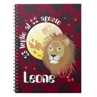 Leone 23 peeping Lio Al 22 agosto Taccuino Spiral Notebook
