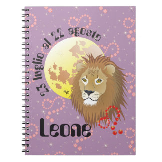Leone 23 peeping Lio Al 22 agosto Taccuino Spiral Note Book