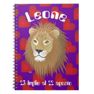 Leone 23 peeping Lio Al 22 agosto Taccuino Notebook