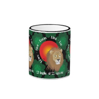 Leone 23 peeping Lio Al 22 agosto Tazze Ringer Coffee Mug