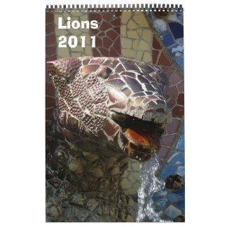Leones 2011 calendarios de pared