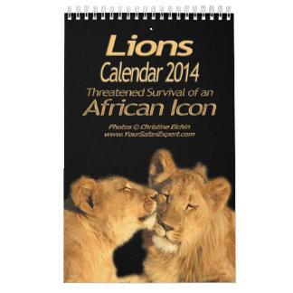 Leones - calendario africano 2014 (sola página)