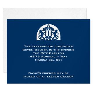 """Leones de la marina de guerra en la recepción de invitación 4.25"""" x 5.5"""""""