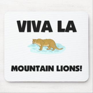 Leones de montaña del La de Viva Alfombrillas De Ratón