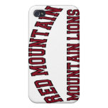 Leones de montaña rojos de la montaña iPhone 4/4S carcasas