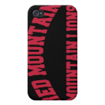 Leones de montaña rojos de la montaña iPhone 4 cárcasas