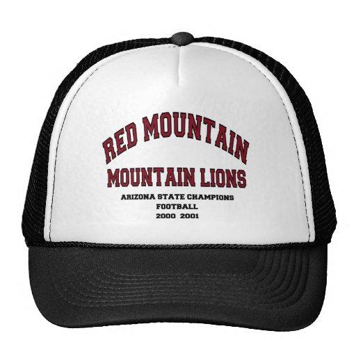 Leones de montaña rojos de la montaña gorro de camionero