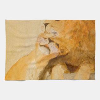 Leones en el amor #1.jpg toallas de cocina