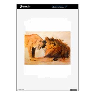 Leones en el amor #2 iPad 2 calcomanía