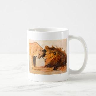 Leones en el amor #2 taza de café