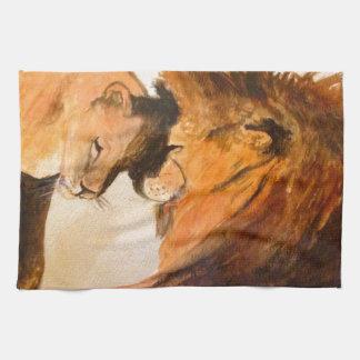 Leones en el amor #2 toallas
