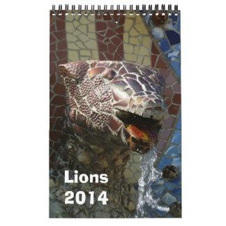 Leones en el calendario 2014 de la arquitectura