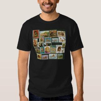 Leones en sellos camisas
