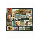 Leones en sellos postal