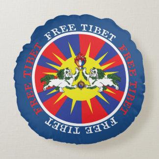 Leones libres de la nieve de Tíbet y lema de la Cojín Redondo