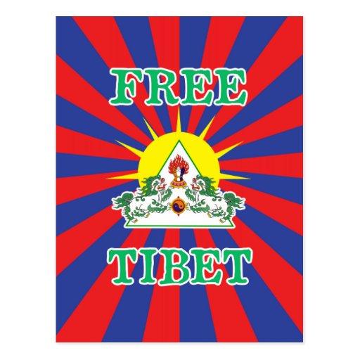 Leones libres de la nieve de Tíbet y símbolo de Tarjeta Postal