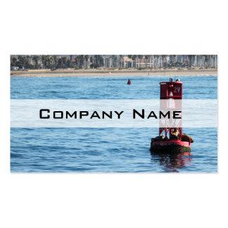 Leones marinos de la boya plantilla de tarjeta personal