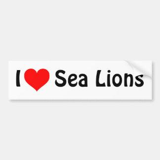 Leones marinos del corazón I Pegatina Para Auto