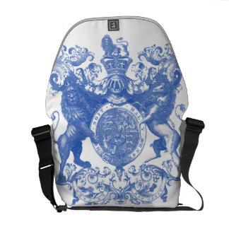 Leones y escudo de la heráldica bolsas messenger