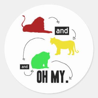 leones y tigres y osos OH MI pegatina
