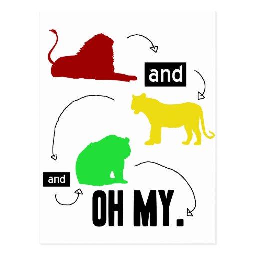 leones y tigres y osos OH MI postal