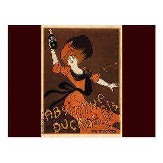 Leonetto Cappiello Absinthe Ducros Fils Postcard