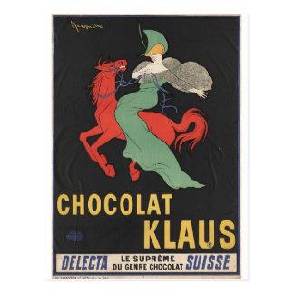 Leonetto Cappiello: Chocolat Klaus 1903 Postal