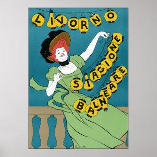 Leonetto Cappiello Livorno Stagione Balneare Posters
