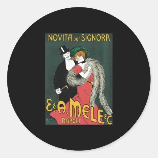 Leonetto Cappiello Novita Per Signora Classic Round Sticker