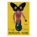 Leonetto Cappiello shoe polish papillon noir Poster