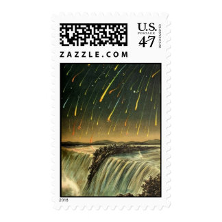 Leonid Meteor Storm Painting from 1883 Stamp