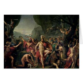 Leonidas at Thermopylae, 480 BC, 1814 Card