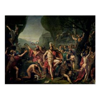 Leonidas at Thermopylae, 480 BC, 1814 Postcard