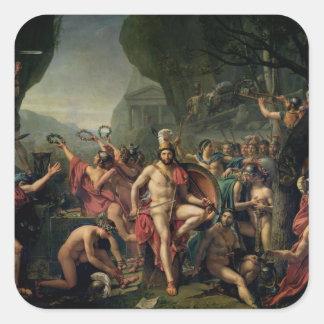 Leonidas at Thermopylae, 480 BC, 1814 Square Sticker