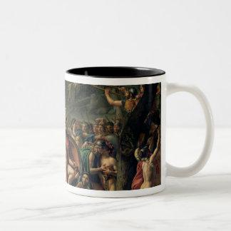 Leonidas at Thermopylae, 480 BC, 1814 Two-Tone Coffee Mug