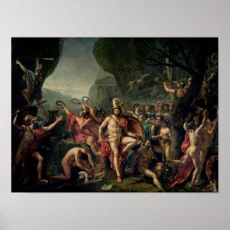 Leonidas en Thermopylae, 480 A.C., 1814 Póster