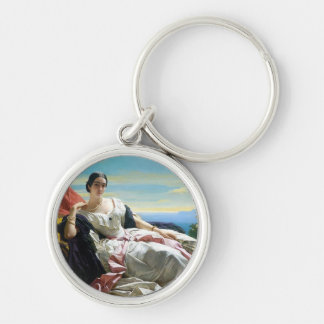 Leonilla Princess of Sayn Wittgenstein Sayn Silver-Colored Round Keychain
