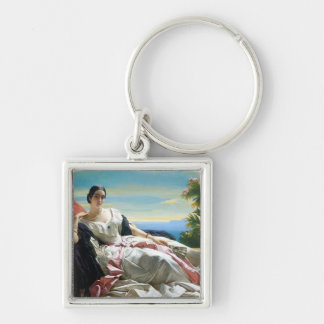 Leonilla Princess of Sayn Wittgenstein Sayn Silver-Colored Square Keychain