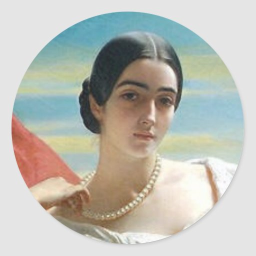 Leonilla Princess of Sayn Wittgenstein Sayn Round Stickers