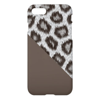 Leopard2 - Cacao- custom iPhone 7 glossy case