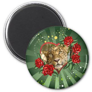 leopard-00174 2 inch round magnet