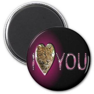 leopard-00177 2 inch round magnet