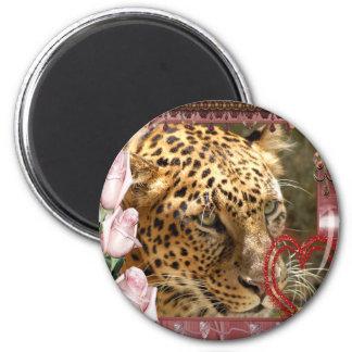 leopard-00187 2 inch round magnet