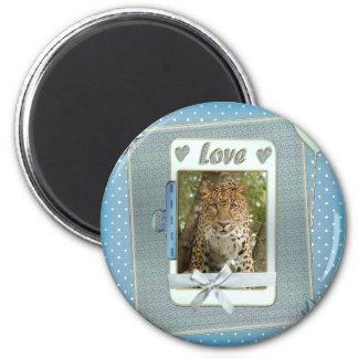 leopard-00242 2 inch round magnet
