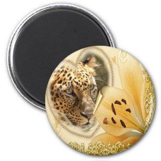 leopard-00255 2 inch round magnet