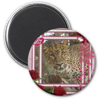 leopard-00281 2 inch round magnet